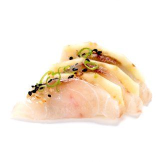 Sashimi Peixe Branco e Abacaxi